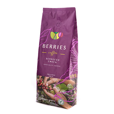Кофе Berries Coffee Сити в зернах 1 кг