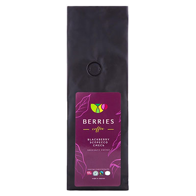 Кофе Berries Coffee  Blackberry в зернах 1 кг
