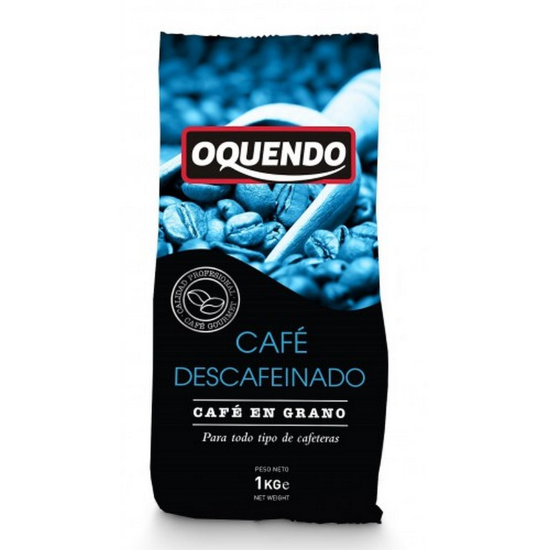 Кофе в зернах Oquendo El Cafe Decaffeinated 1000 г